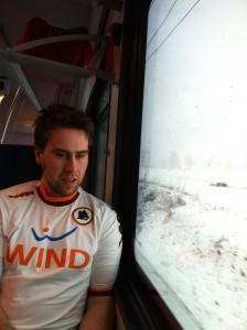 På toget til snøfulle Bergamo