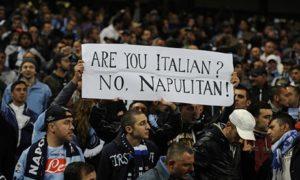 Napoli fans display their pride